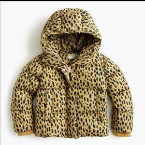 CREWCUTS Leopard Puffer size 12 NWT eco Primaloft